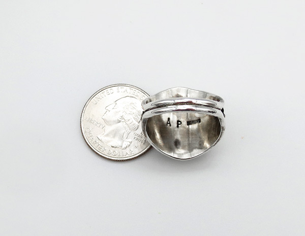 Image 2 of        Sterling Silver Flower Ring Sz 10 Native American Jewelry - 6352rio