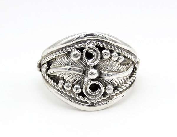 Sterling Silver Band Ring Sz 9 Native American Jewelry - 6358rio
