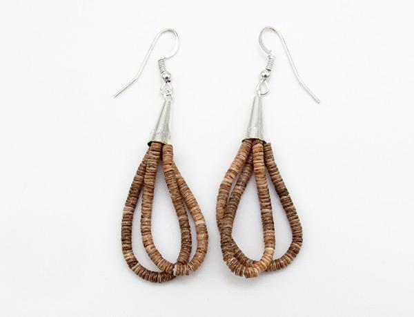 Fine Clam Shell Heishi Earrings Santo Domingo Jewelry - 6369rio