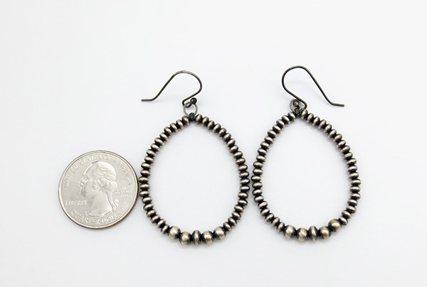 Image 1 of    Sterling Silver Desert Pearl Earrings Native American Jewelry - 3820rio