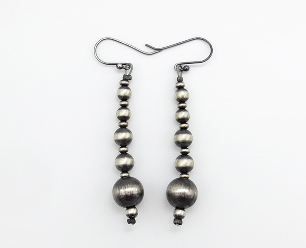Sterling Silver Desert Pearl Earrings Native American Jewelry - 3825rio