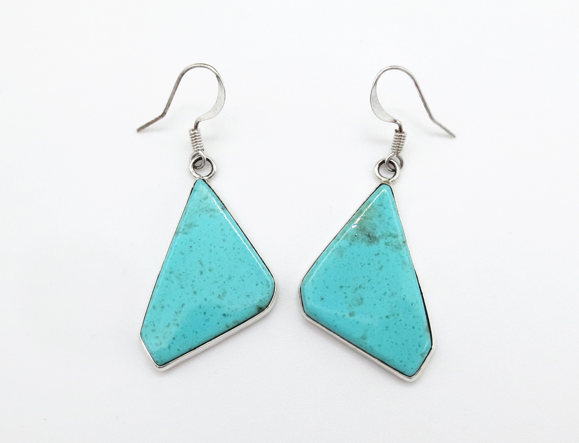 Turquoise & Sterling Silver Earrings Native American Jewelry - 3924rio