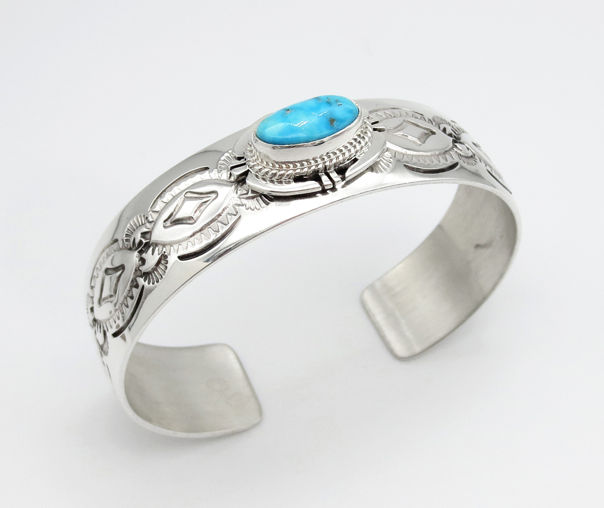 Turquoise & Sterling Silver Bracelet Native American Jewelry - 3961sn