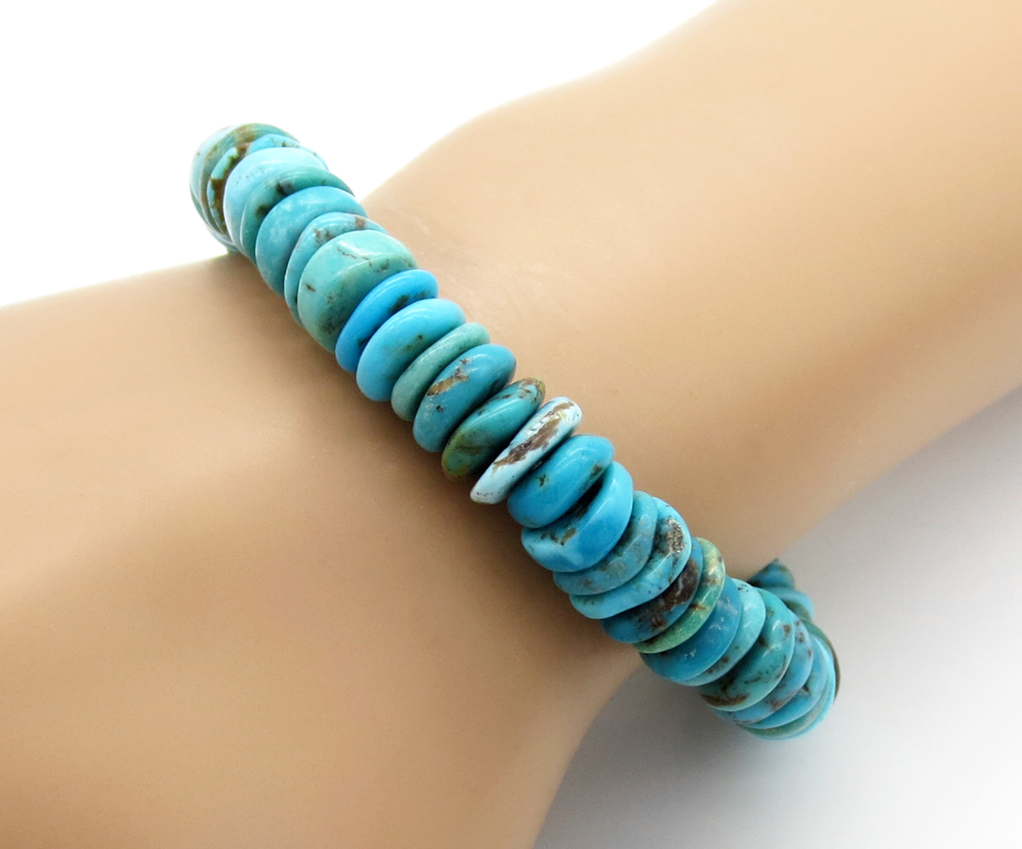 Stretchy Turquoise Bracelet Native American Jewelry - 6268rio