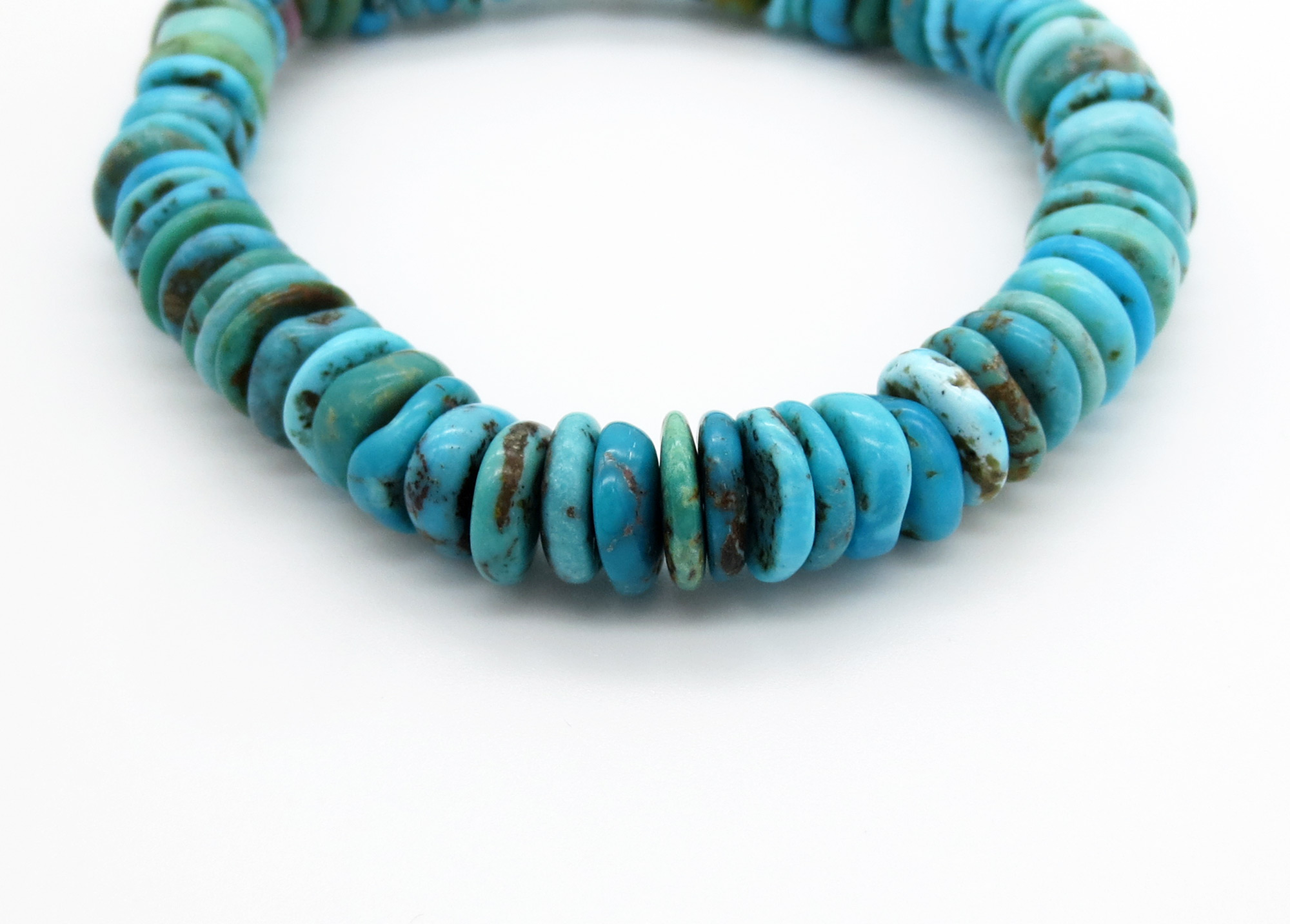 Image 2 of      Stretchy Turquoise Bracelet Native American Jewelry - 6268rio
