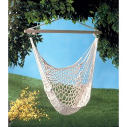 Cotton Hammock Style Net Chair