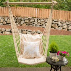 Cotton Padded Swing Chair Patio Furniture