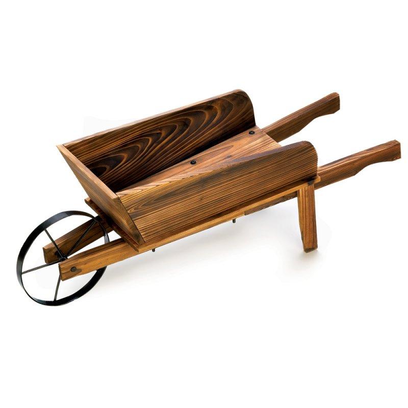 Image 1 of Country Flower Cart Wheel Barrow Garden Planter