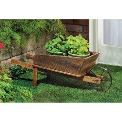 Country Flower Cart Wheel Barrow Garden Planter