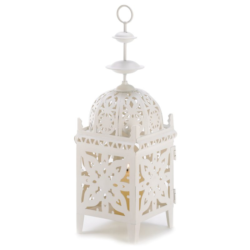 Image 1 of Creamy White Medallion Lantern Wedding Centerpiece