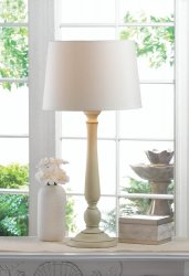 Dover Contemporary Ivory Table Lamp with Matching Shade