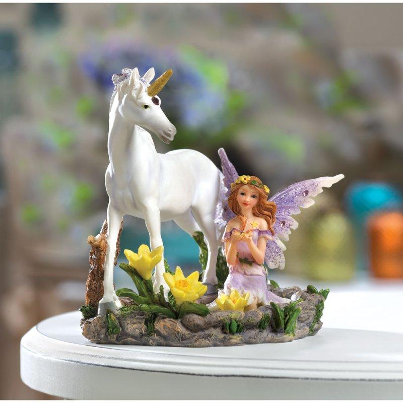 Fairy and Unicorn Figurine