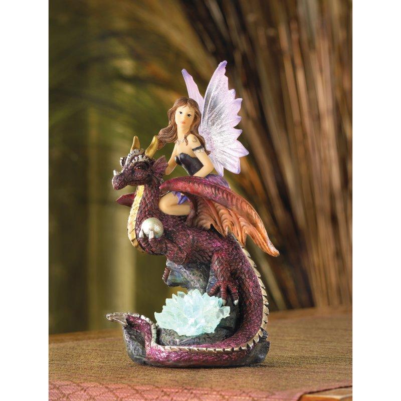 Image 0 of Fairy Riding Dragon Figurine