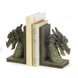 Fierce Medieval Dragon Bookends