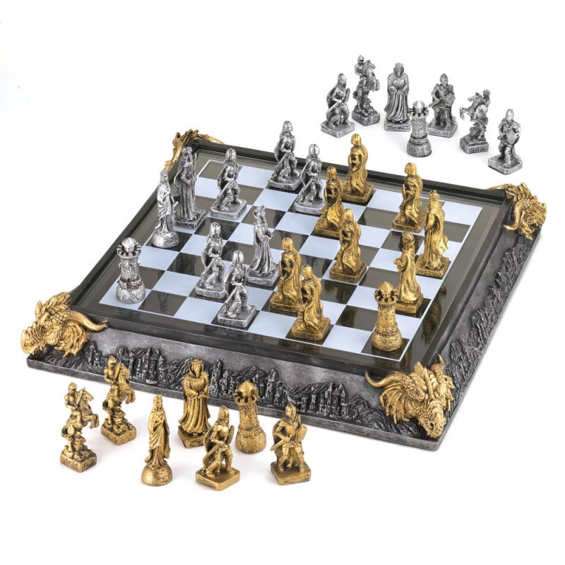 Image 0 of Knights & Dragons Medieval Chess Chest