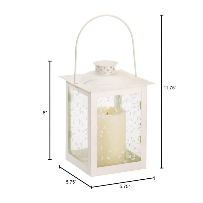 Image 2 of Large Ivory Vine Design Candle Lantern Wedding Centerpiece