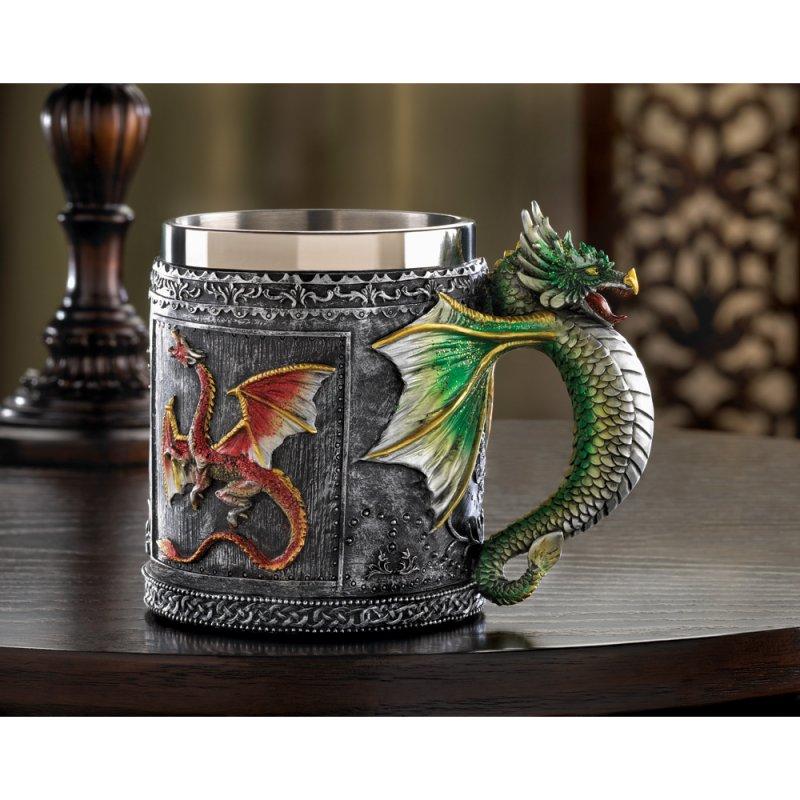 Image 0 of Medieval Design Royal Dragon Motif Mug