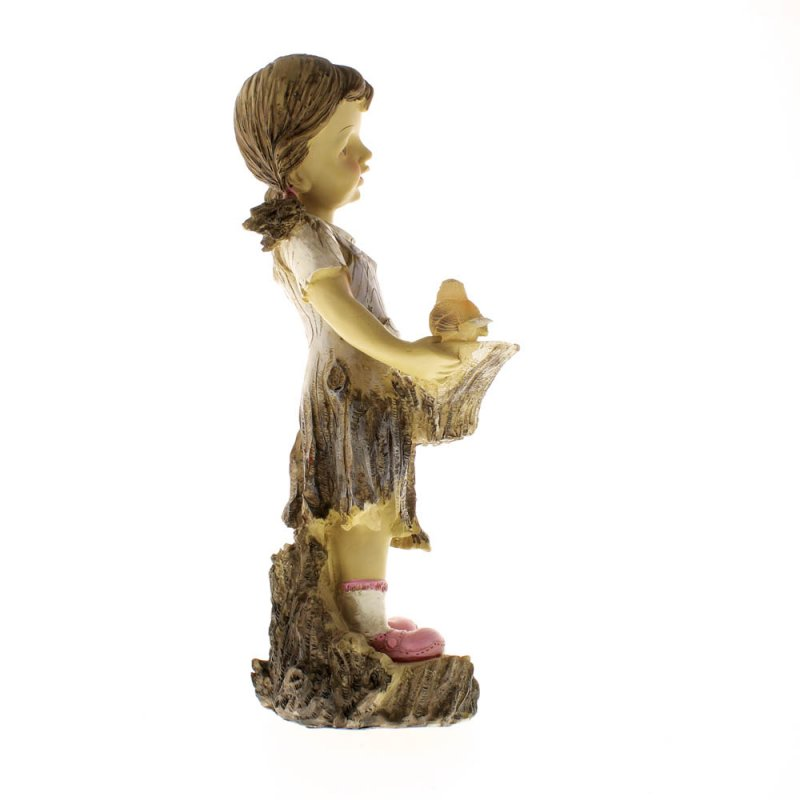 Image 4 of Sweet Summertime Girl with Basket Solar Garden Statue