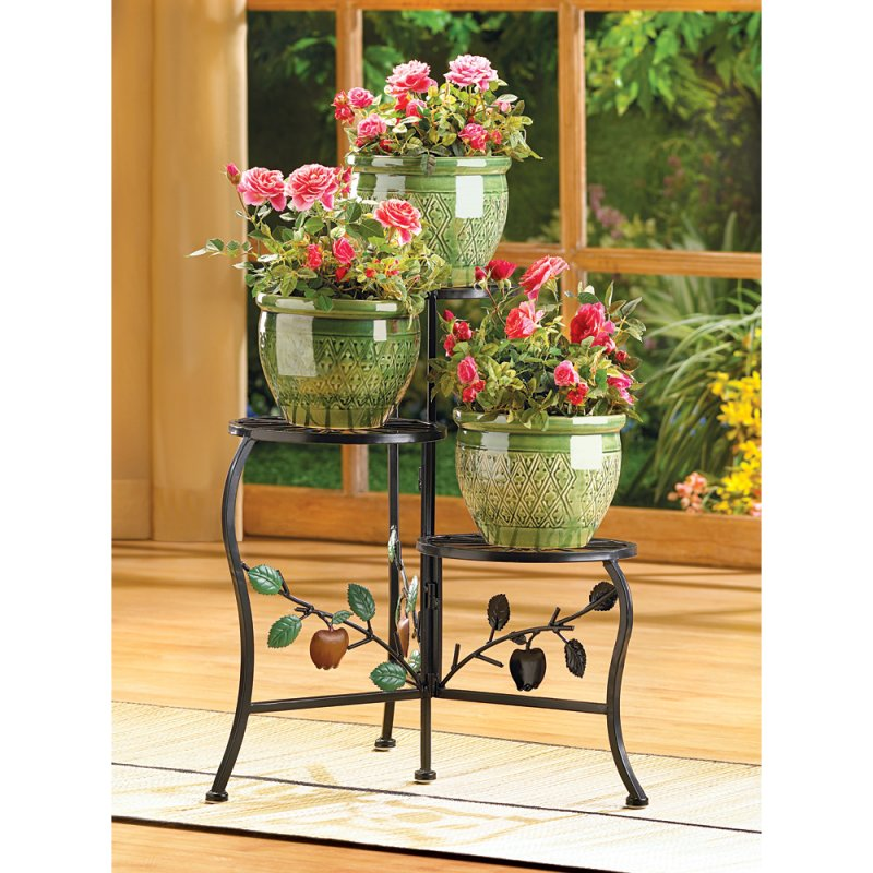 Image 0 of Three-Tier Country Apple Gate Design Plant Stand