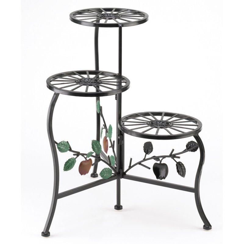 Image 1 of Three-Tier Country Apple Gate Design Plant Stand
