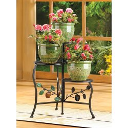 Three-Tier Country Apple Gate Design Plant Stand