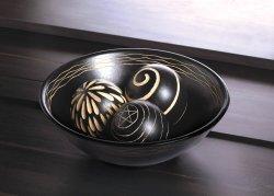 Tribal Artisan Deco Bowl And Three Matching Balls
