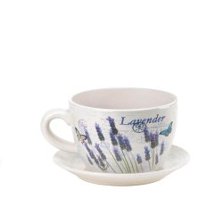 '.Lavender Fields Teacup Planter.'