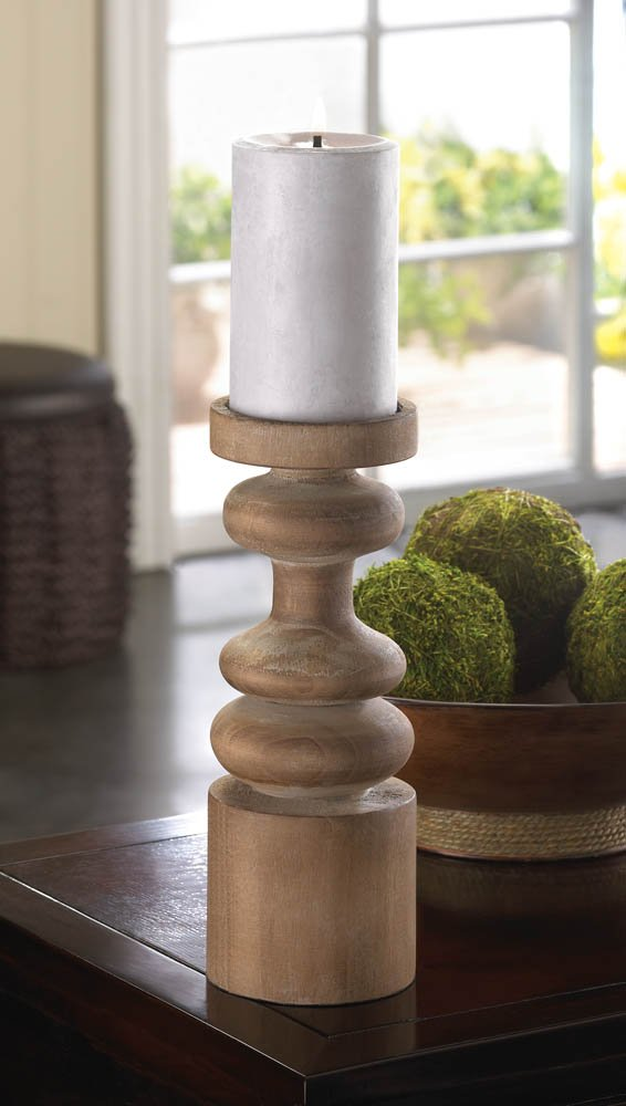 Image 1 of Craftsmen Modern Wooden Pillar or Votive Candle Holder