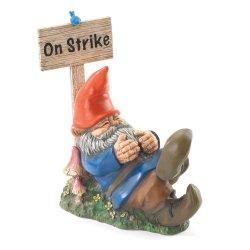 On Strike Lazy Garden Gnome Figurine