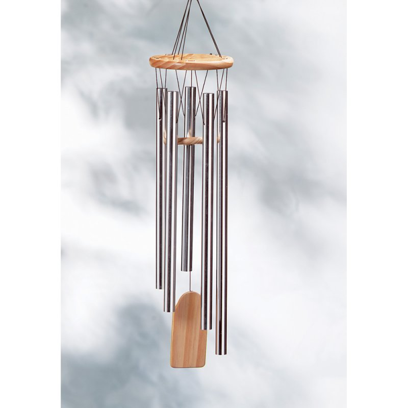 Image 0 of Resonant Aluminum and Natural Pine Wind Chime