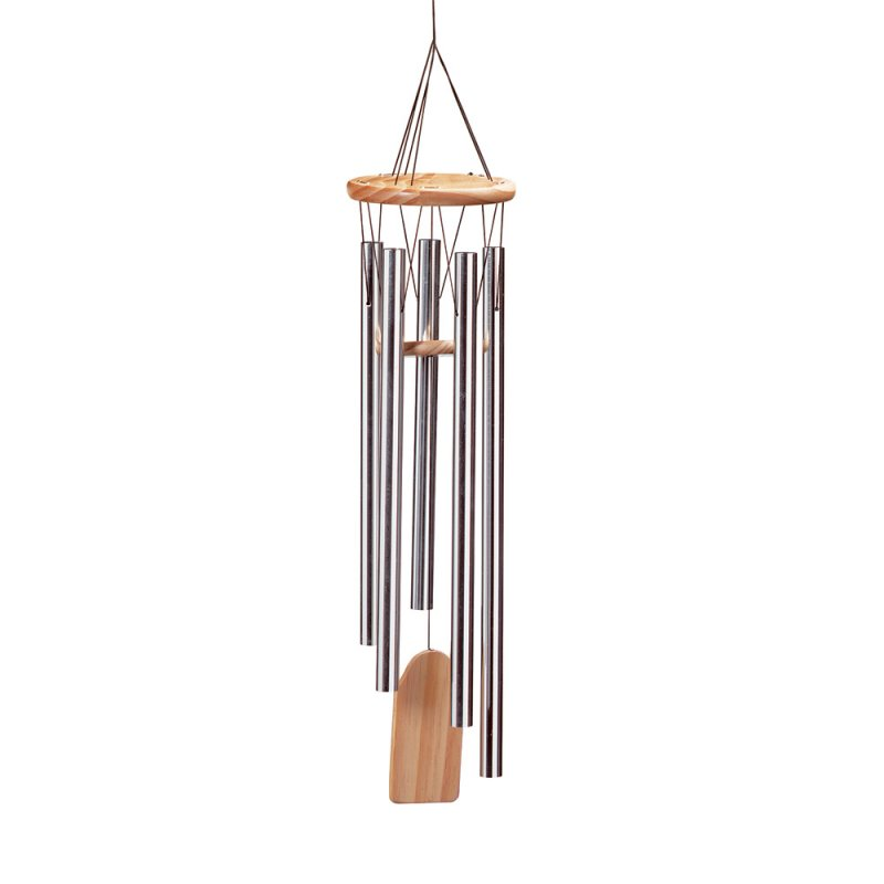 Image 1 of Resonant Aluminum and Natural Pine Wind Chime