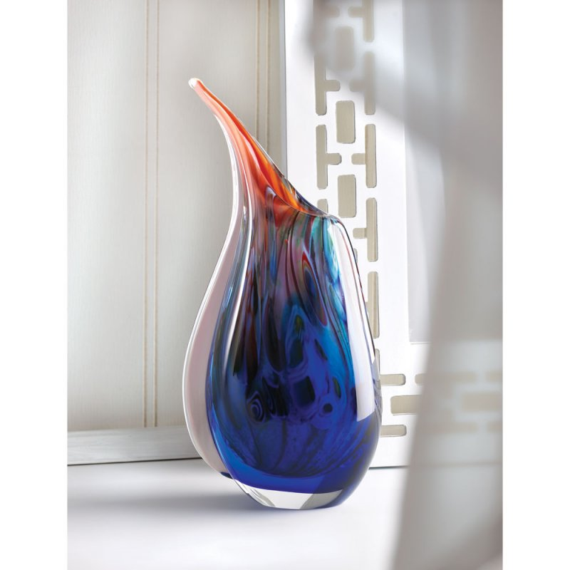 Image 0 of Dreamscape Abstract Artist Art Glass Vase
