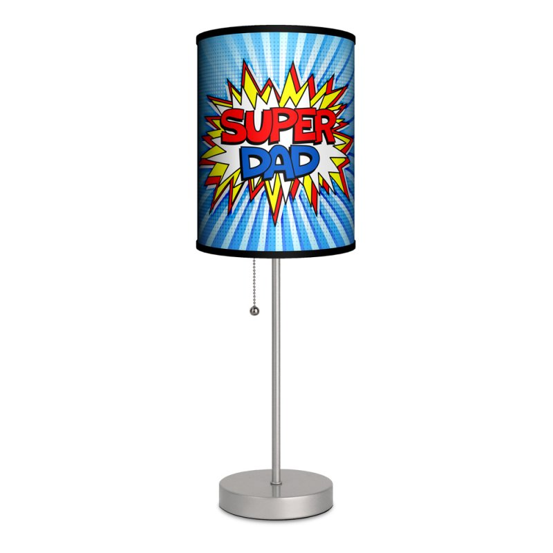 Comic Book Style Super Dad Pop Art Table Lamp Made in U.S.A.:,Lighting
