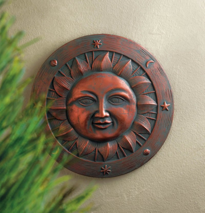 Image 0 of Smiling Sun Stepping Stone Plaque Garden Decor