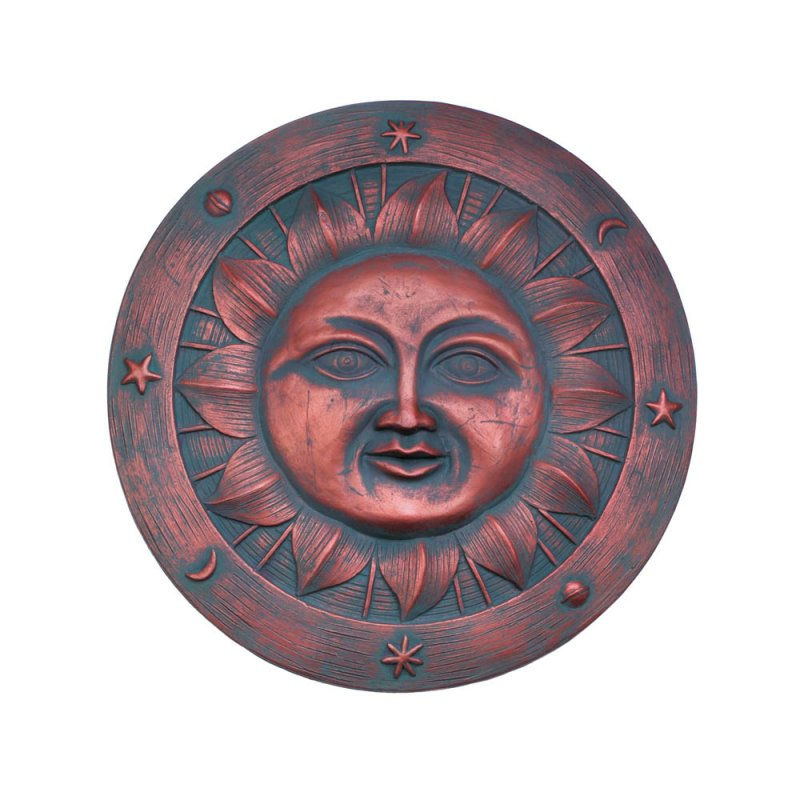 Image 1 of Smiling Sun Stepping Stone Plaque Garden Decor