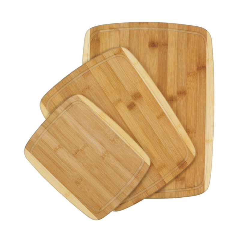 Image 1 of Set of 3 Sleek Bamboo Cutting Boards Various Sizes