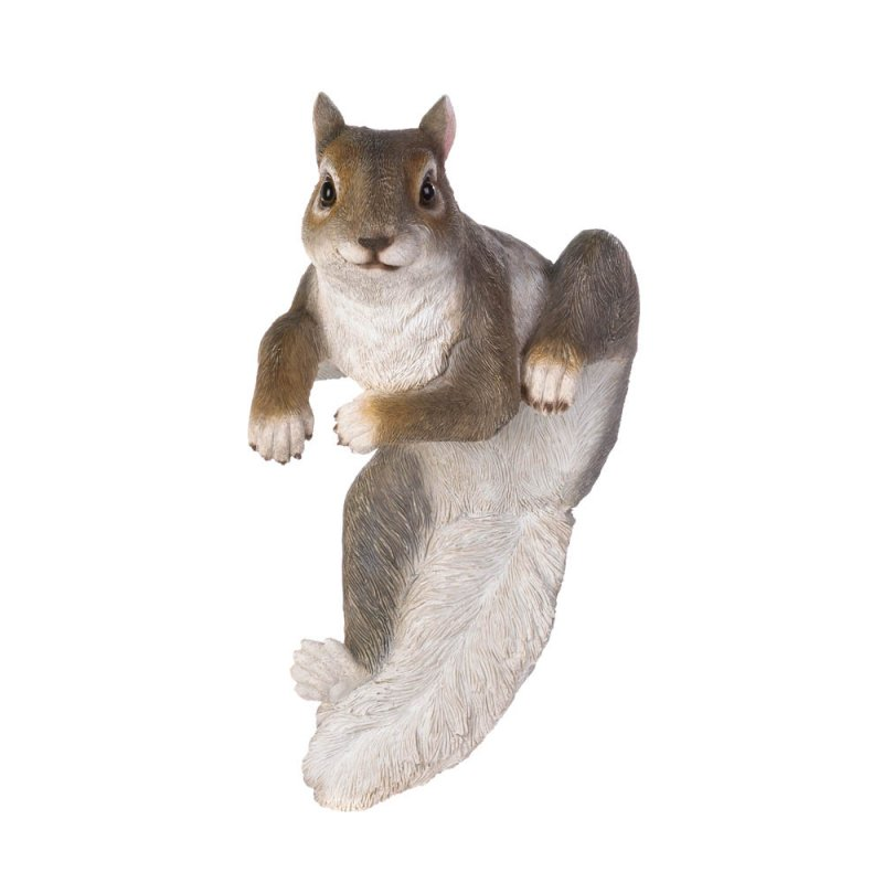 Image 3 of Chip The Climbing Squirrel Figurine for Fence or Potted Plant