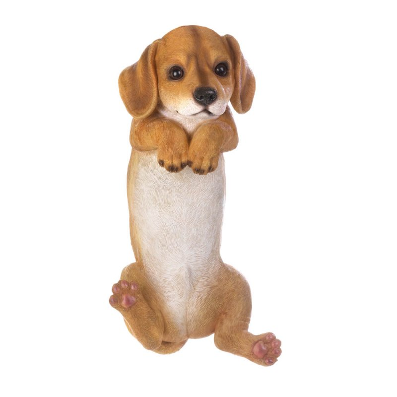 Image 2 of Koda Climbing Golden Retriever Pup Figurine for Fence or Potted Plant