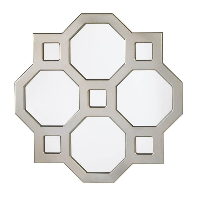 Image 0 of Decorative Modern Geometric Wall Mirror Octagons and Squares Wall Decor