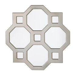 Decorative Modern Geometric Wall Mirror Octagons and Squares Wall Decor