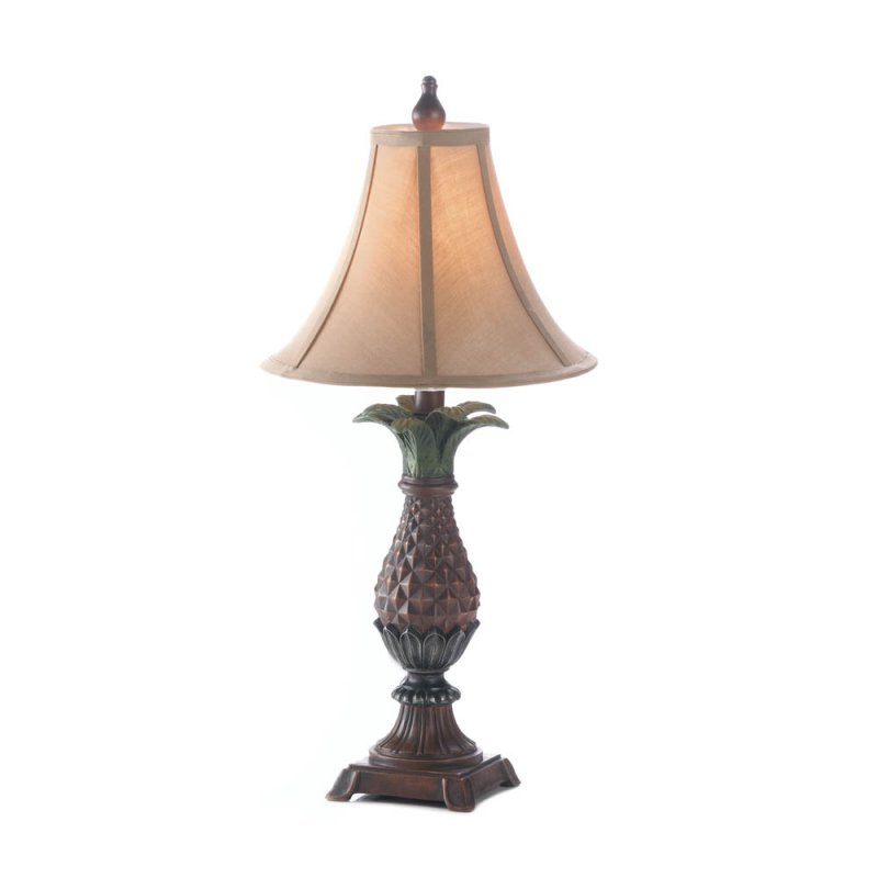 Image 1 of Classic Pineapple Table Lamp with Neutral Shade