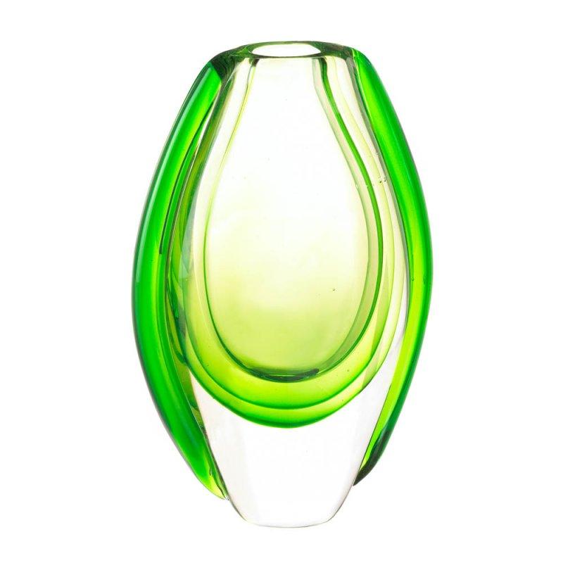 Image 0 of Emerald Green Art Glass Vase