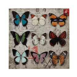 Butterfly Collage 3D Iron Wall Art Postal Background