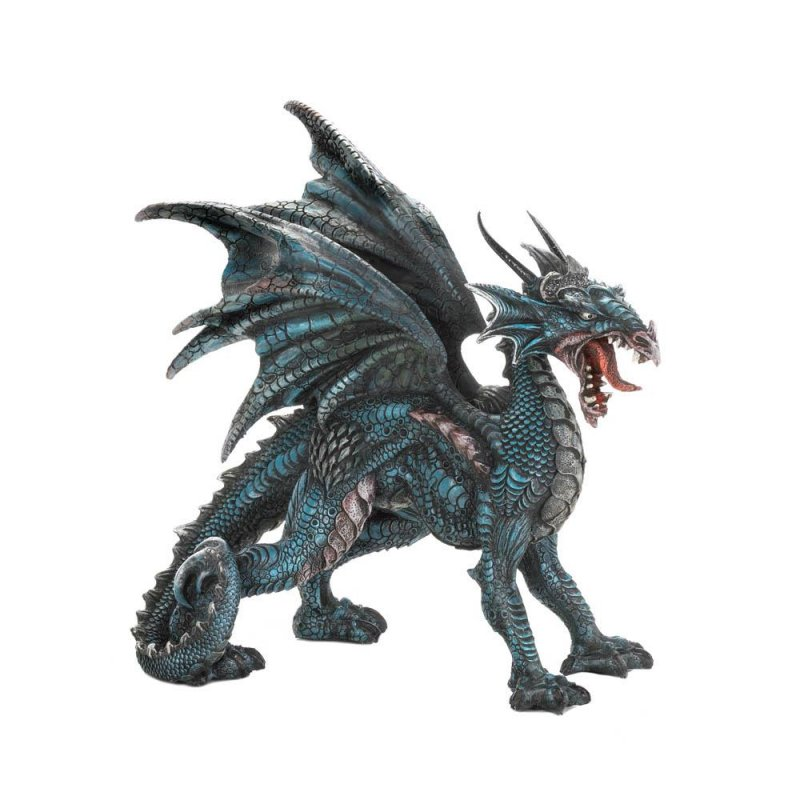Image 1 of Fierce Winged Dragon Statue Figurine