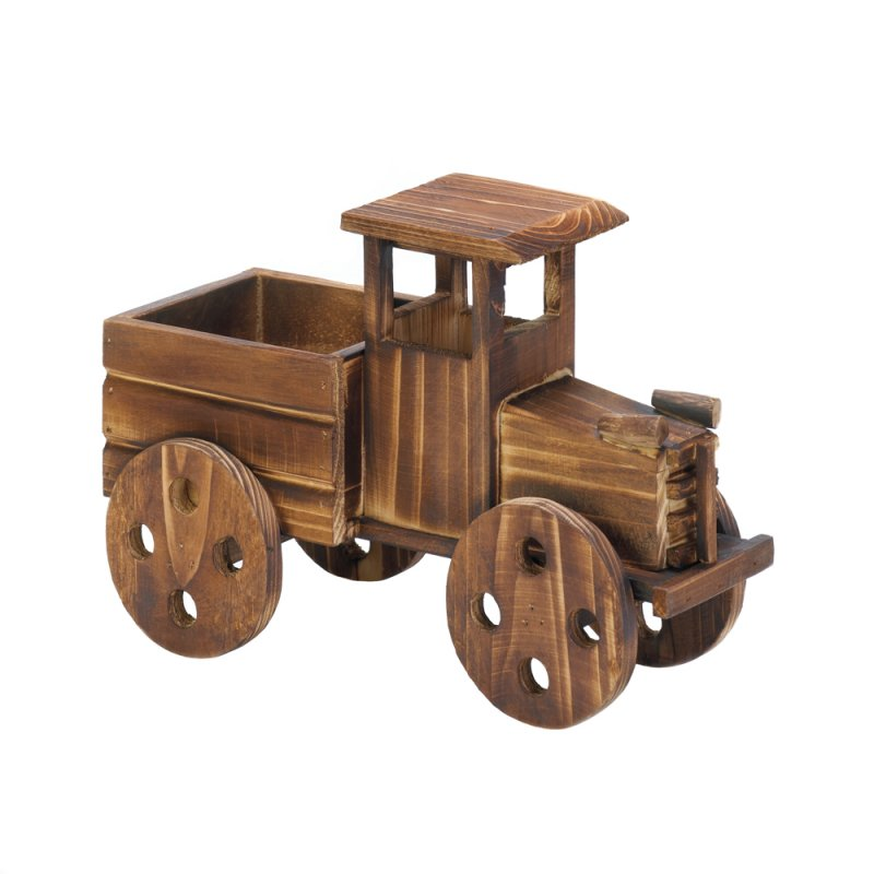 Image 1 of Rustic Antique Truck Wooden Planter indoors, Patio or Porch