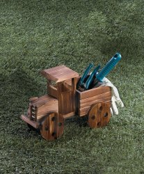 Rustic Antique Truck Wooden Planter indoors, Patio or Porch