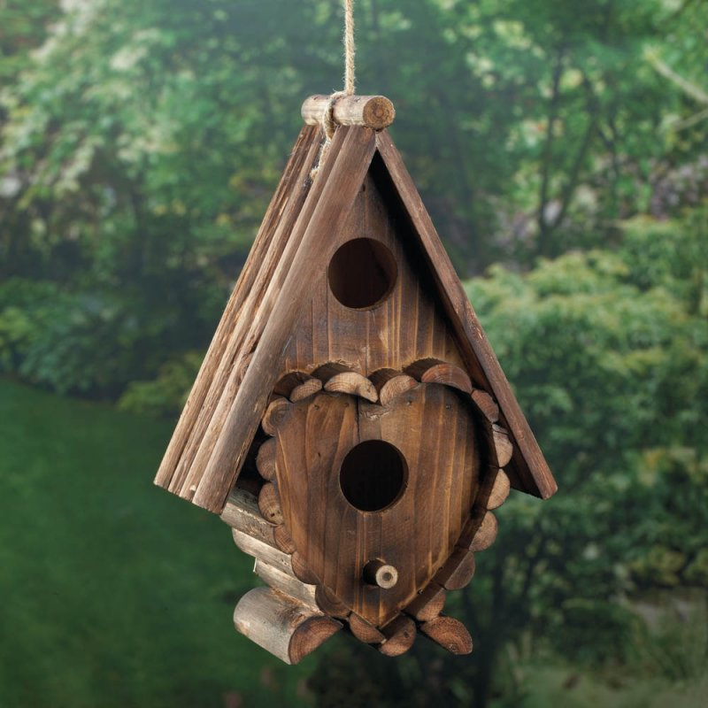 Heart Shape Birdhouse Fir wood  Dimensions 7.25