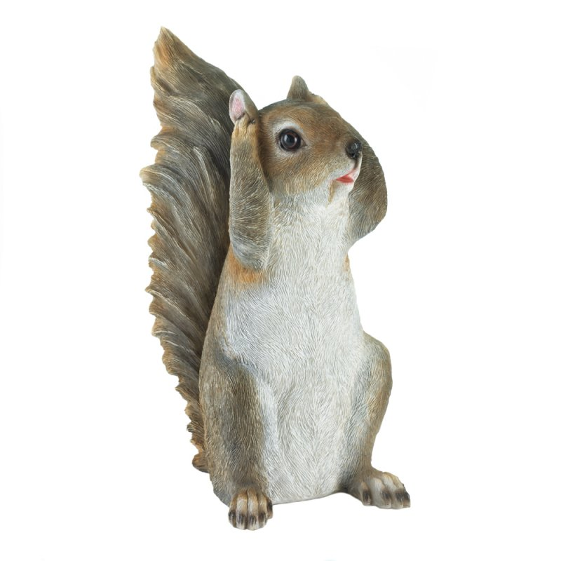 Image 1 of Hear No Evil Squirrel Garden Figurine
