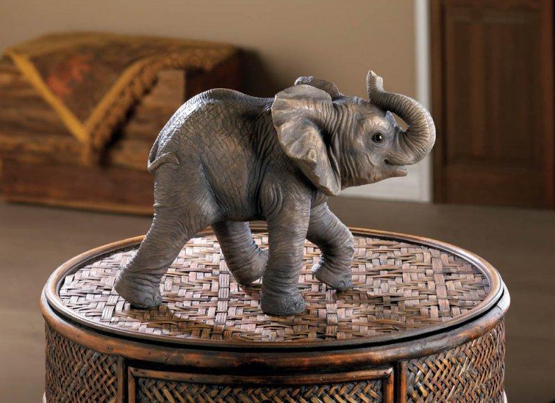 Happy Elephant Figurine