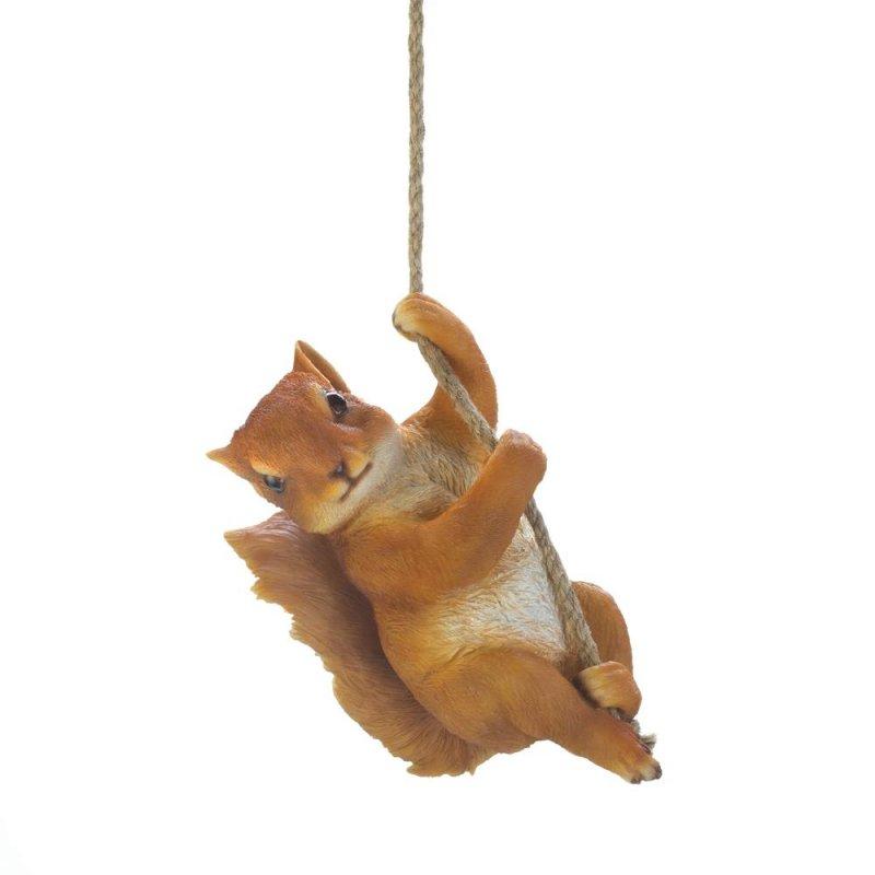 Image 0 of Hanging Squirrel Figurine Garden Patio Decor